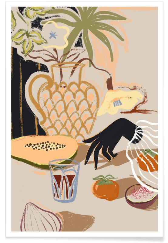 Tanzen, Strände, Fruits on The Table -Poster
