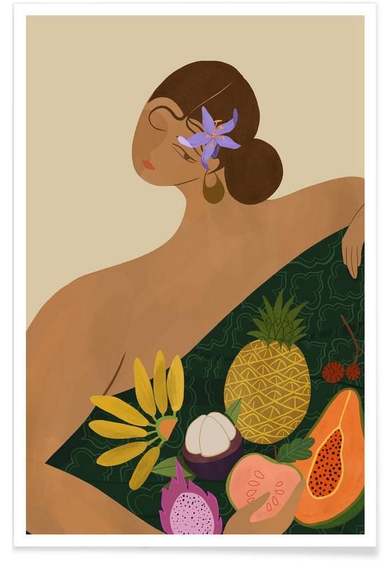 Danse, Plages, Fruits for Sale affiche