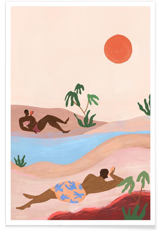 Tanzen, Strände, Beach Please -Poster