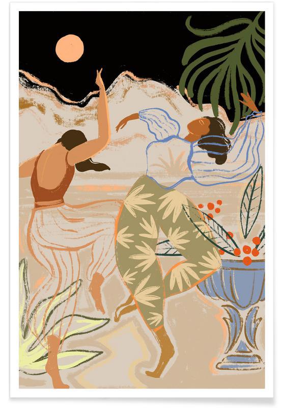 Tanzen, Strände, Dance Under the Moonlight -Poster