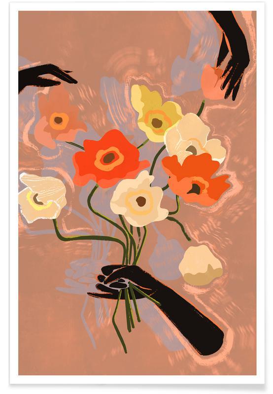 Danse, Plages, Flower Always affiche