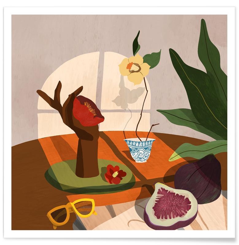 Stranden, Dans, Fig & Camelia poster