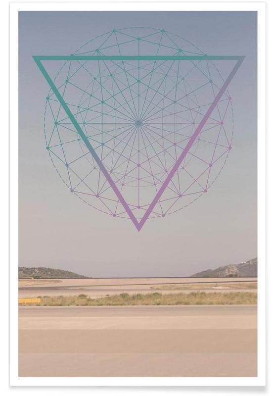 Abstracte landschappen, Athena poster