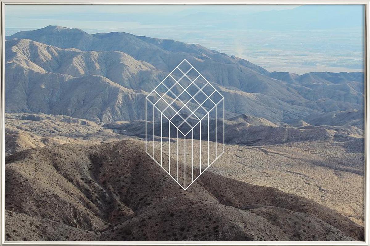 Coachella affiche sous cadre en aluminium