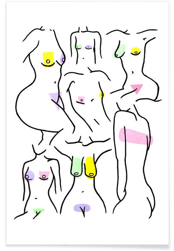 Body close-ups, Nakeducation by @bossy.bu poster