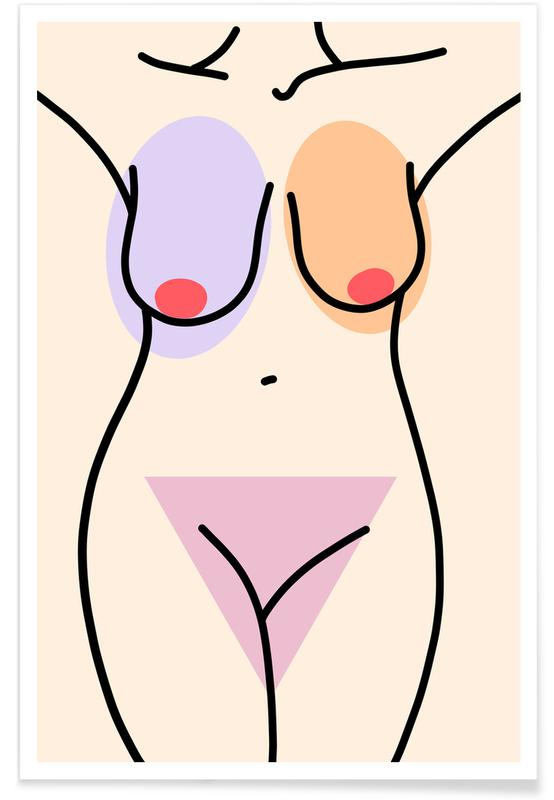 Körperformen, Nakeducation 1 by @avejanson -Poster