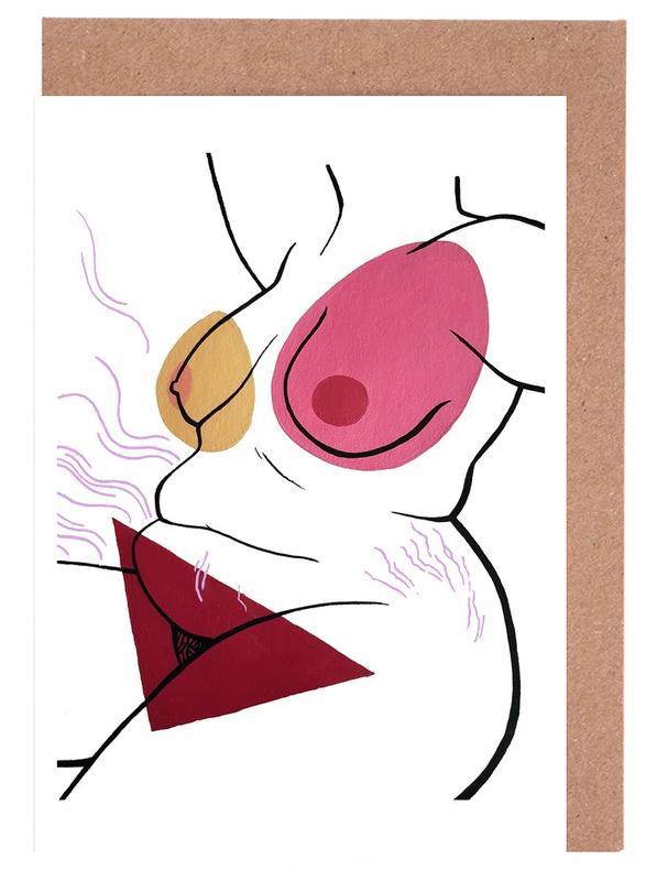 Körperformen, Nakeducation by @ephi_biest -Grußkarten-Set