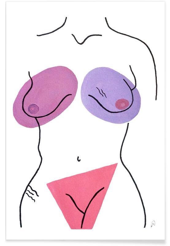 Körperformen, Nakeducation by @_banun._ -Poster