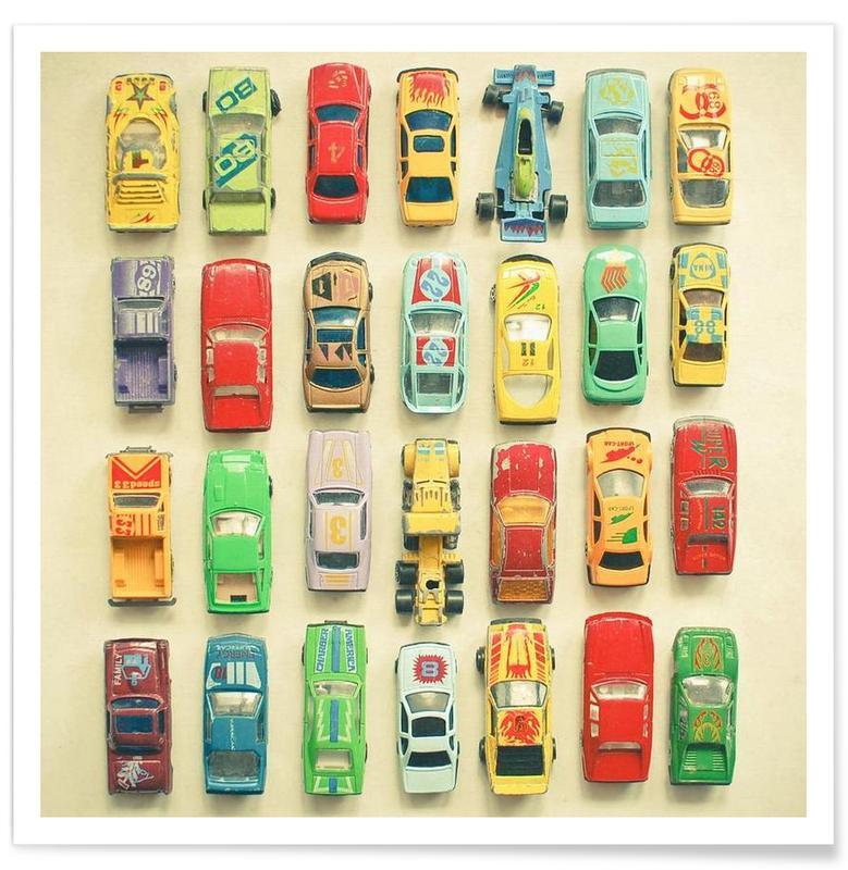 Voitures, Art pour enfants, Car park affiche