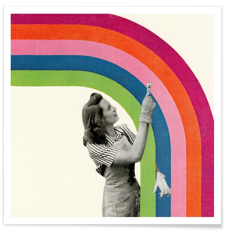 Glückwünsche, Paint a Rainbow -Poster