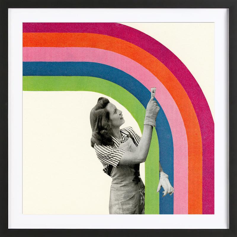 Paint a Rainbow ingelijste print