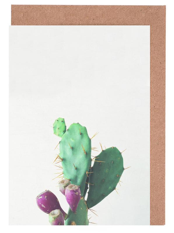 Kaktus, Prickly Pear -Grußkarten-Set