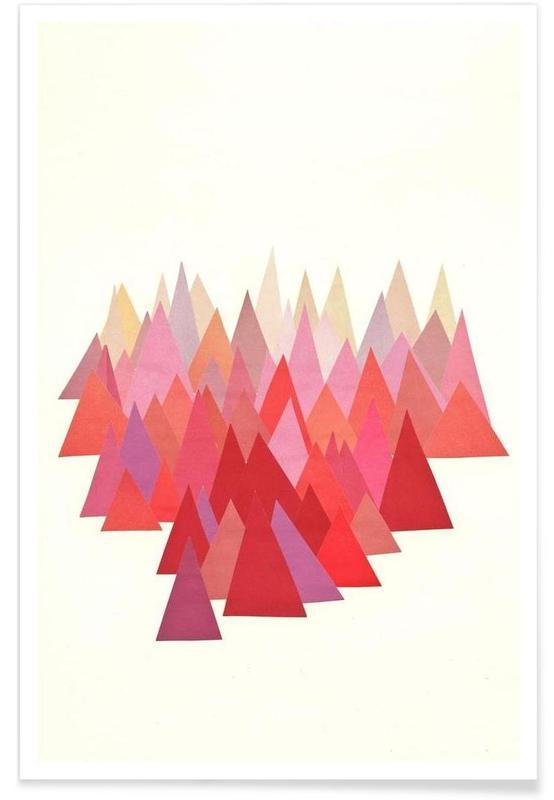 Abstrakte Landschaften, Indian Summer -Poster