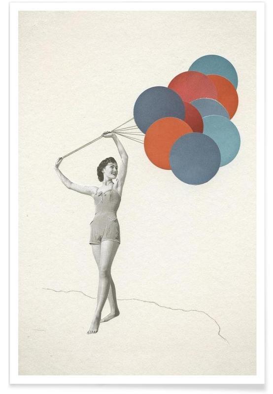 Retro, Ballons Poster