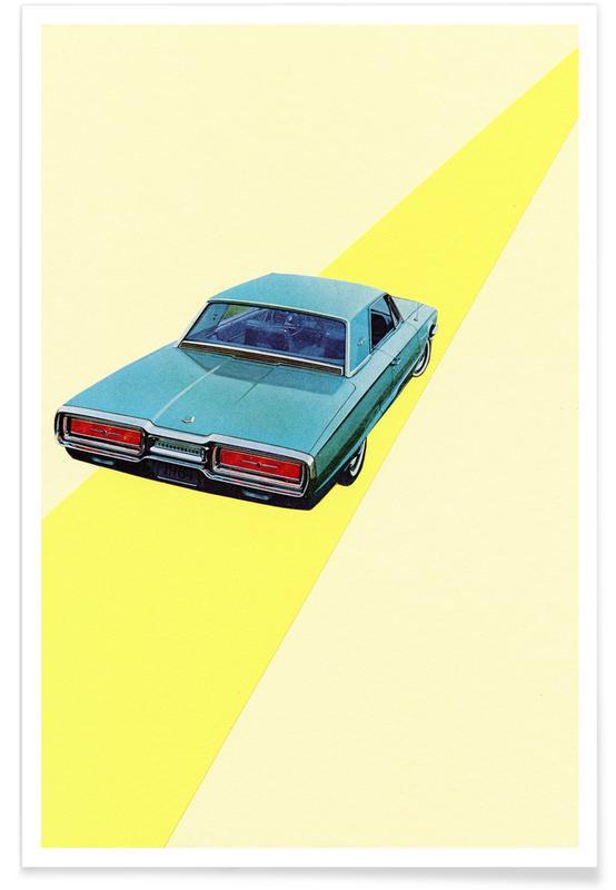 Auto's, Retro, Open Road poster