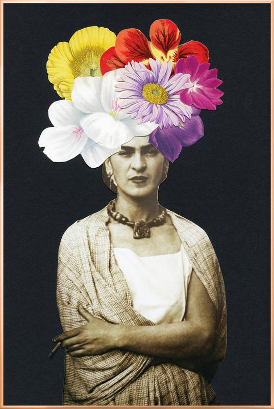 Beautiful Frida Poster in Aluminium Frame
