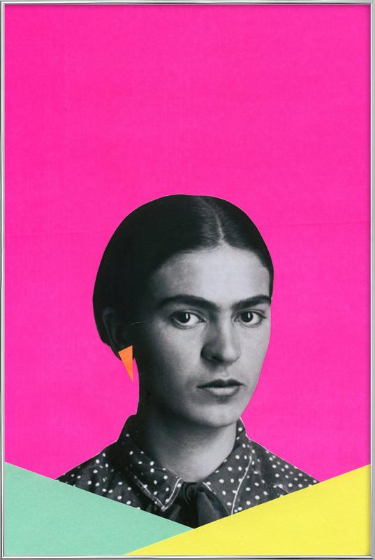 Modern Frida Poster in Aluminium Frame