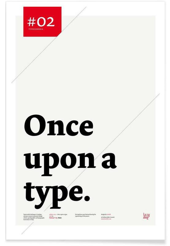 , Once upon a type affiche