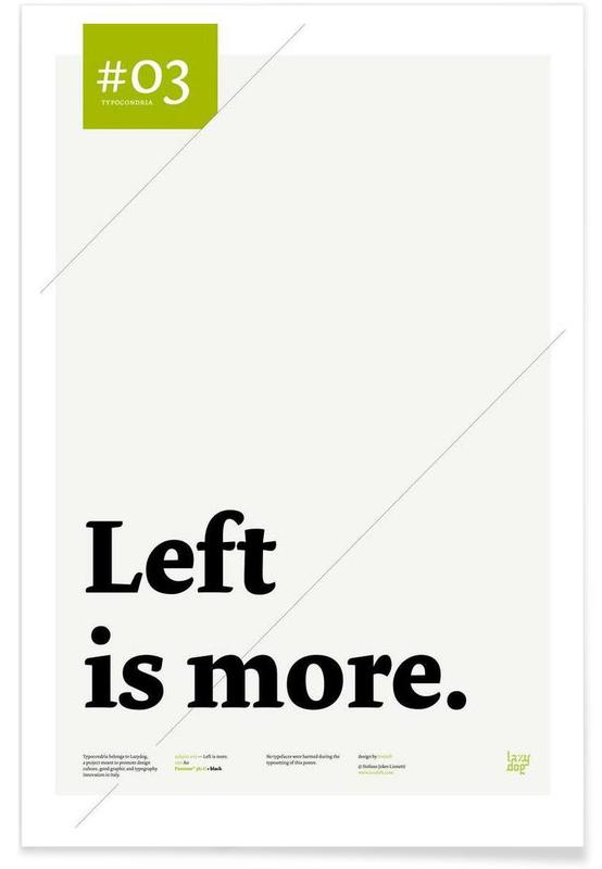 Left is more affiche