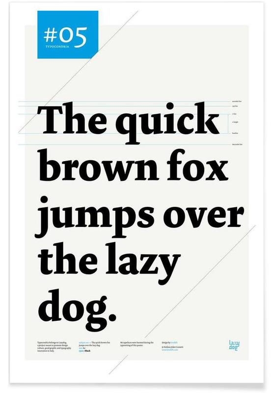 The quick brown fox affiche