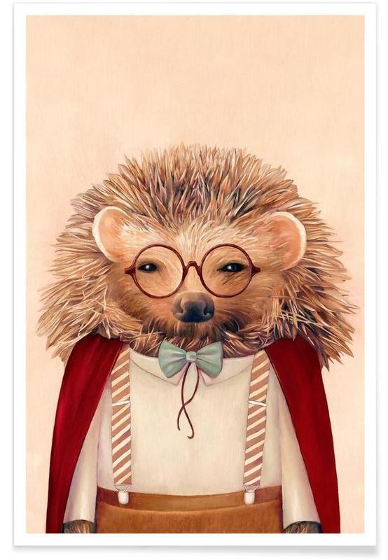 Créatures et hybrides, Art pour enfants, Hedgehog affiche