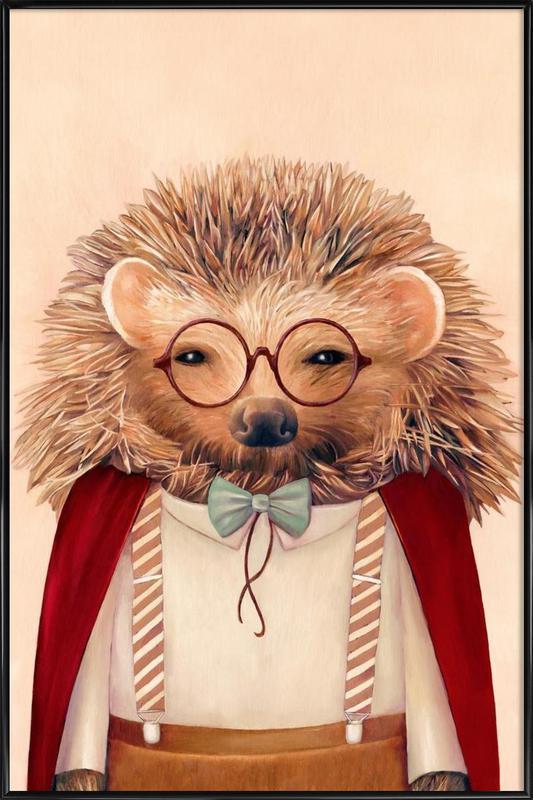 Hedgehog Framed Poster