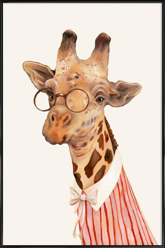 Ms Giraffe ingelijste poster