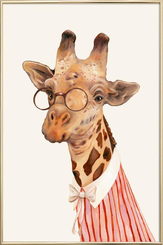 Ms Giraffe poster in aluminium lijst