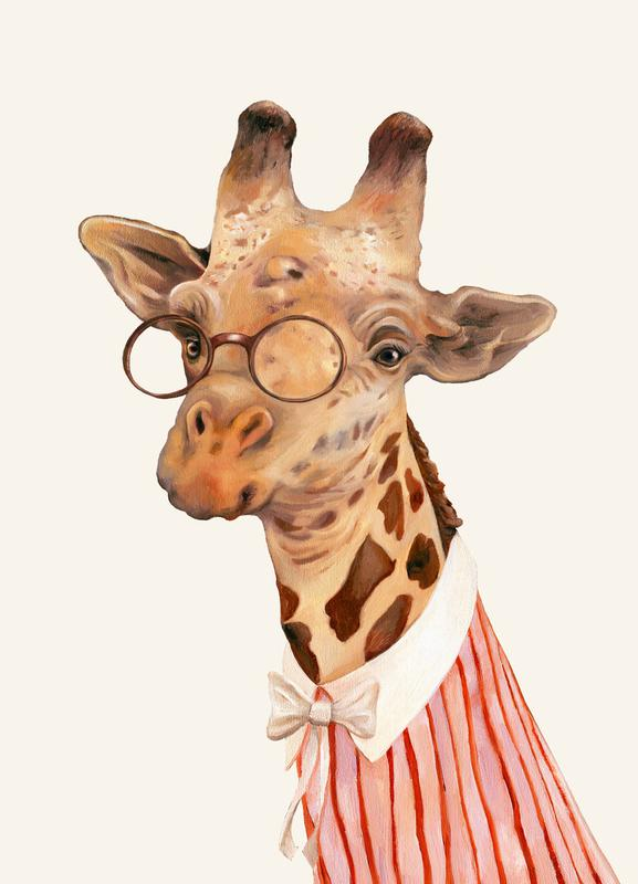 Ms Giraffe canvas doek