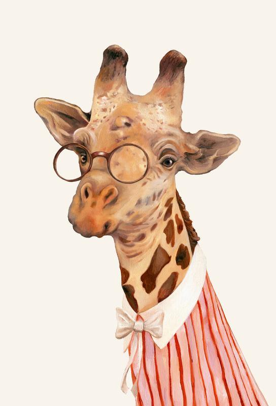 Ms Giraffe -Acrylglasbild