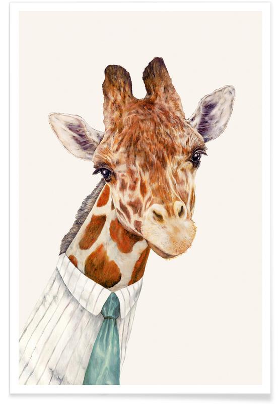 Créatures et hybrides, Art pour enfants, Mr Giraffe affiche