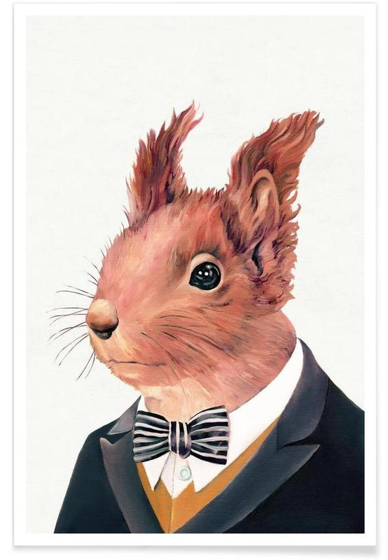 Red Squirrel affiche
