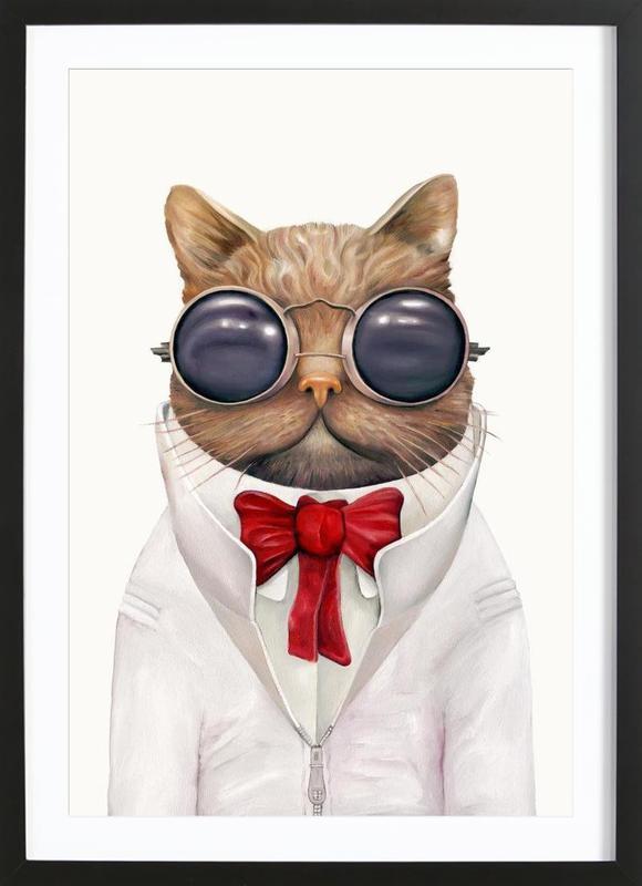 Astro Cat Framed Print