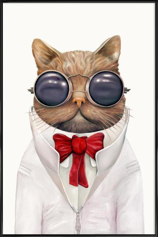 Astro Cat Framed Poster