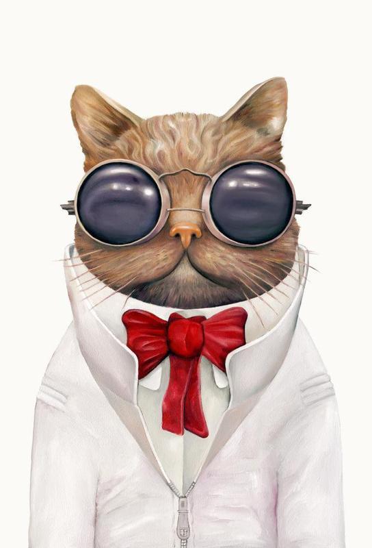 Astro Cat Aluminium Print