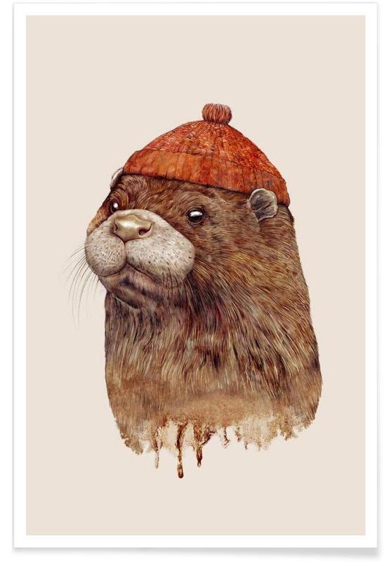 Créatures et hybrides, Art pour enfants, Otter affiche