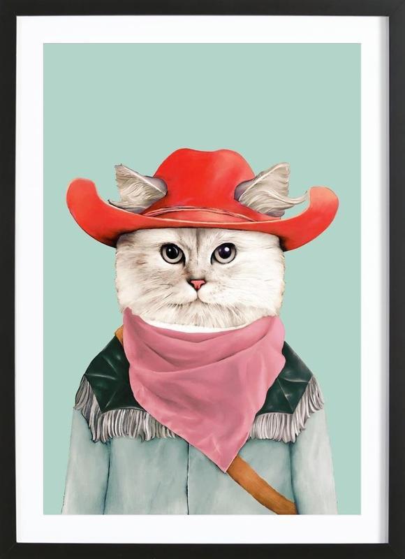 Rodeo Cat Framed Print