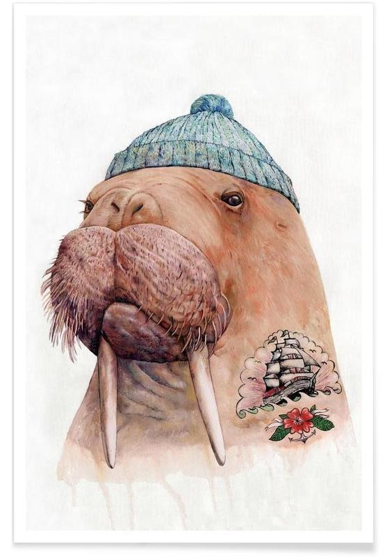 Creatures & Hybrids, Tatooed Walrus Poster