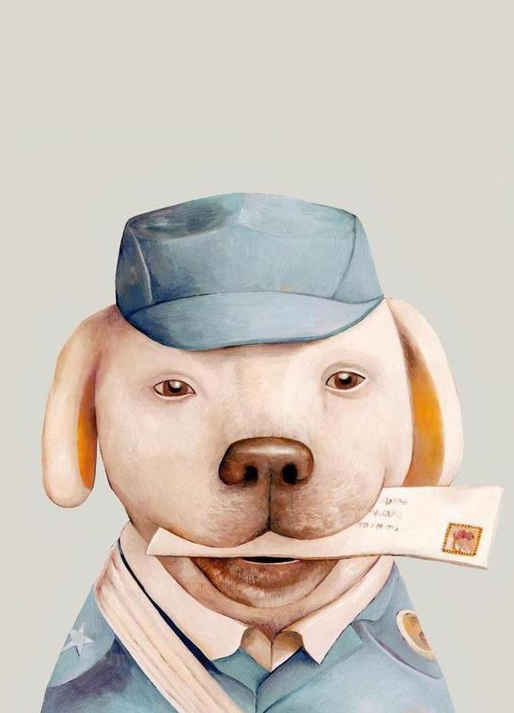 Delivery Dog toile