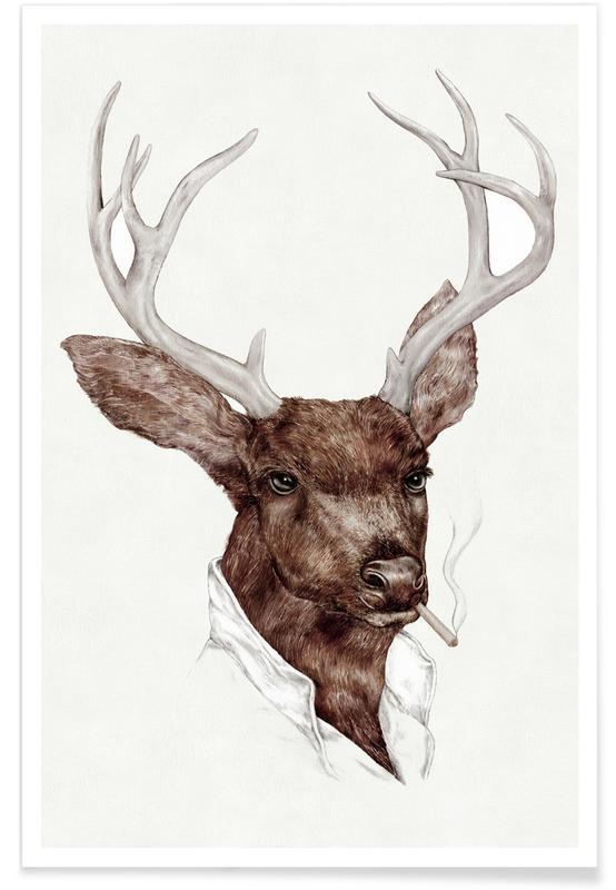 Deer, Smocking Buck Poster