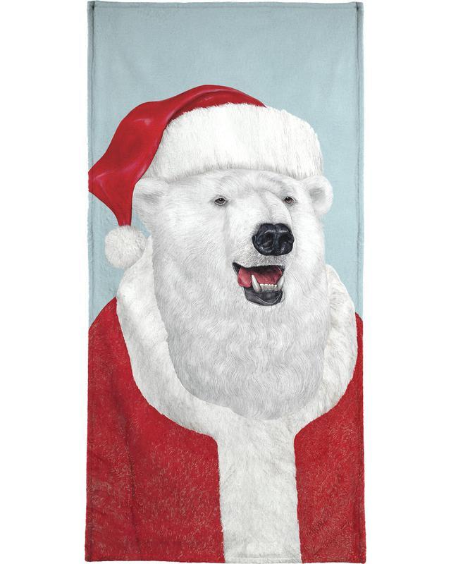 Polar Bear Santa Bath Towel