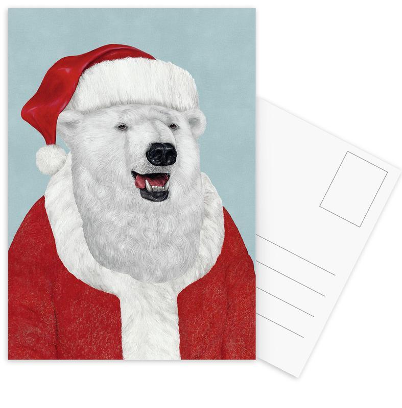 Ours, Noël, Polar Bear Santa cartes postales