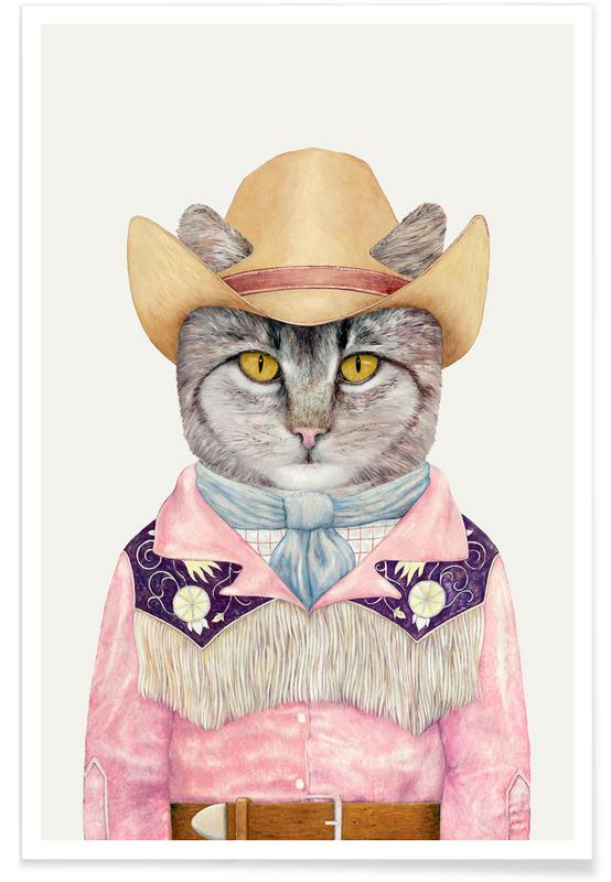 Country Cat -Poster