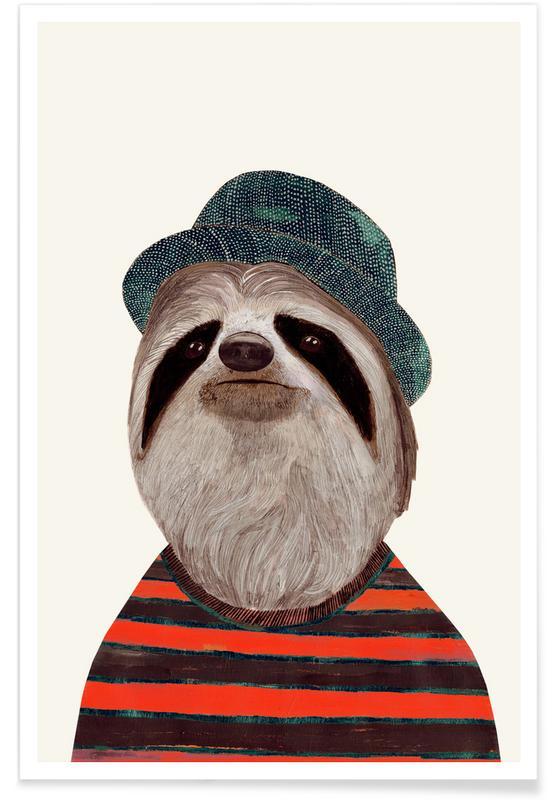 Fantasie- & Mischwesen, Funky Sloth -Poster