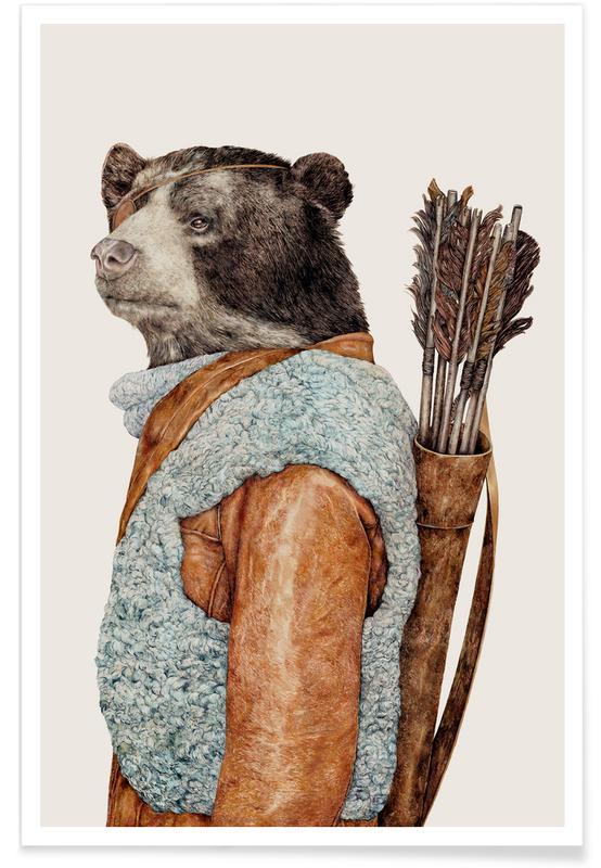 Créatures et hybrides, Art pour enfants, Hunter affiche