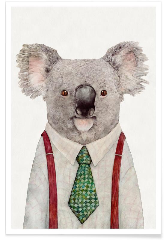Fantasie- & Mischwesen, Kinderzimmer & Kunst für Kinder, Koala Firefighter -Poster
