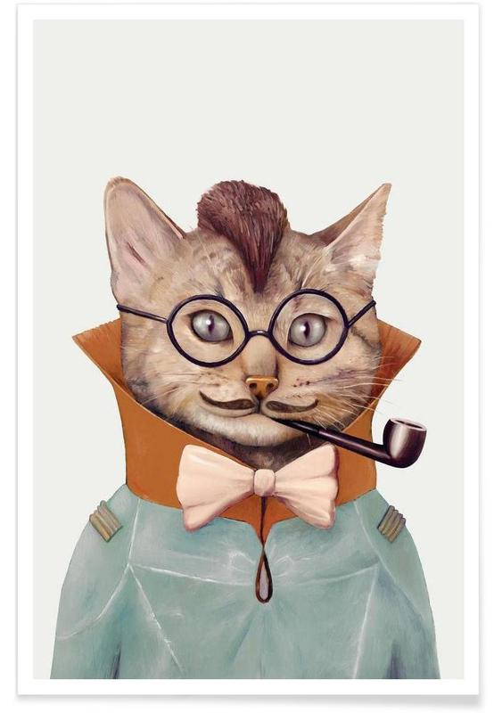 Eclectic cat affiche