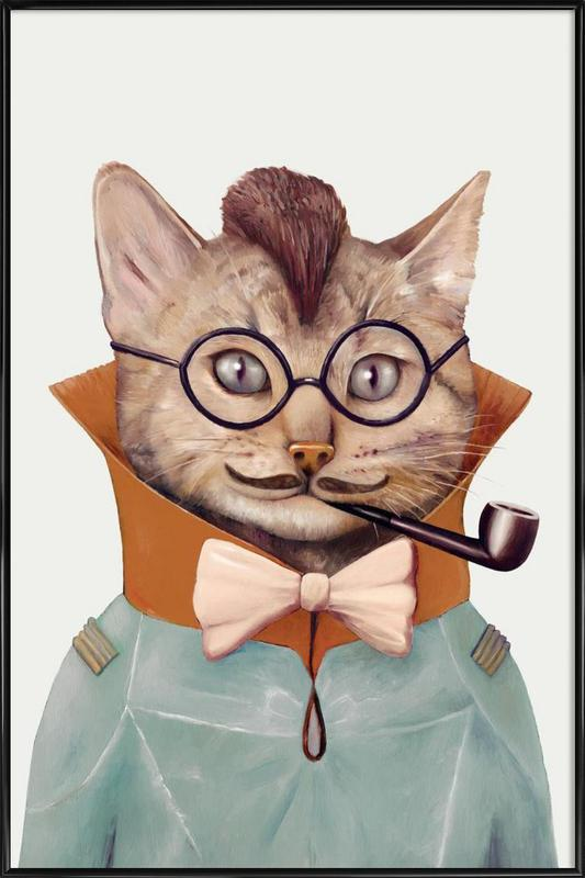 Eclectic cat Framed Poster