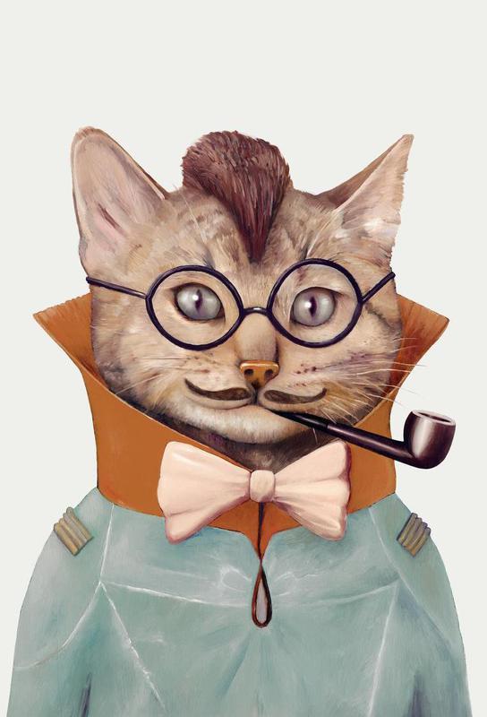 Eclectic cat alu dibond