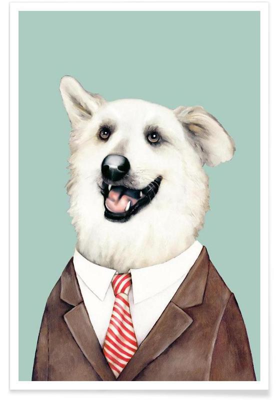 Happy dog affiche